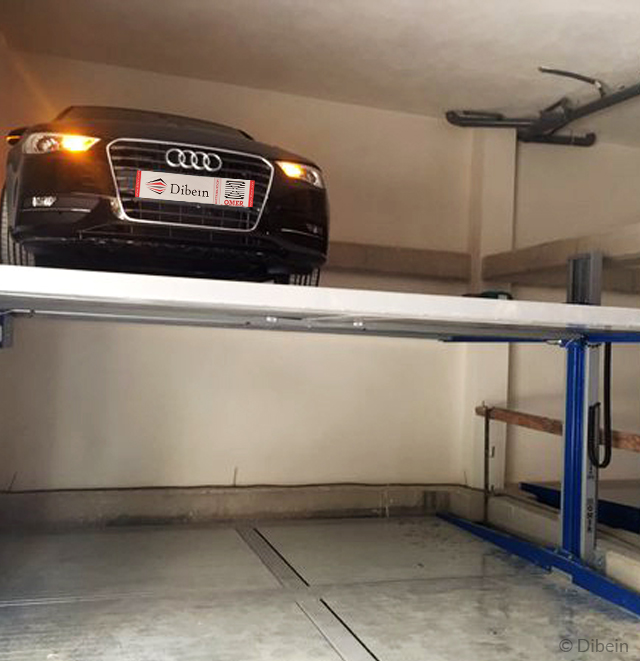 Double stackers with a pit in a parking area in Villarroya Investors
